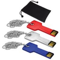 USB 8GB Metálica C/Correa Key